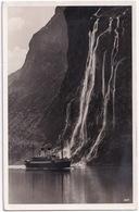Norwegen - Wasserfall 'Die Sieben Schwestern' - ( Dampfer / Cruise-ship)  - Norway-Norge - Noorwegen