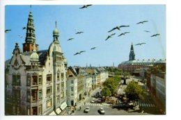 Piece Sur Le Theme De Danemark - Copenhagen - Flower Market And Christiansborg Seat Of Parliament - Danemark