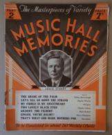 Piece Sur Le Theme De Partition Musicale Anglaise - Music Hall Memories - Partitions Musicales Anciennes