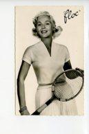Piece Sur Le Theme De Photo - Tennis - Carte Intitulee - Floc - Ref 1897 - Interlock Nylon Pur Coton Peigne - Sports