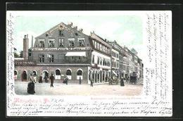 AK Königsberg, Schlossplatz Und Französische Strasse Mit Marzipan-Fabrik M. Zappa - Ostpreussen
