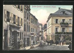AK Baden-Baden, Gernsbacher Strasse Mit Pferdewagen - Gernsbach