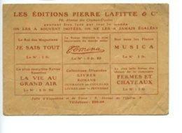 Piece Sur Le Theme De Enveloppe Publicitaire - Les Editions Pierre Lafitte - Champs Elysees - Paris - Autres