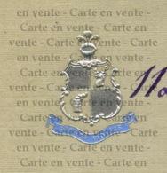 Piece Sur Le Theme De Lettre De Saint Cloud Comportant Un Blason Particulier A Une Famille - Francais - Old Paper