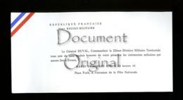 Piece Sur Le Theme De Militaria - Correspondance - 2eme Region Militaire - 14 Juillet 1987 - Militaria