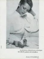 Piece Sur Le Theme De Publicite Noir Et Blanc De 1975 - ECUSSON - Parfum De Tradition - J. D Albret - Paris - Publicités