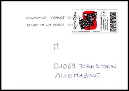 Frankreich / France: 'Jahr Des Schweins, 2019' / 'MonTimbrenLigne - Le Cochon', EF - France