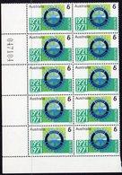 AUSTRALIA, 1971 ROTARY CNR BLOCK 10 MNH - 1966-79 Elizabeth II