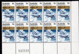 AUSTRALIA, 1971 RAAF CNR BLOCK 10 MNH - 1966-79 Elizabeth II