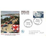 FDC - Vue De Nice Et Sa Baie - Oblit Nice 15/10/55 - FDC