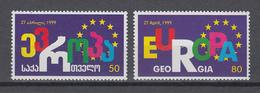 Georgien  1999 ,  Michel Nr: 318/19    **    CEPT  Mitläufer - Europäischer Gedanke