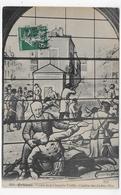 ORLEANS EN 1911 - N° 649 - VITRAIL DE LA CHAPELLE VIEILLE - COMBAT DES AYDES EN 1870 - CPA VOYAGEE - Orleans