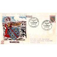 FDC - Armoiries De La Marche - Oblit Guéret 19/11/55 - FDC