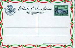 "Portuguese, Estado Da India Province 1959 ""Margao Post Office"" Aerogramme, Air Letter. H&G F8 MINT II - Portuguese India"