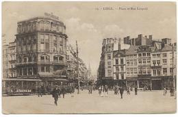 LIEGE : Place St-Lambert Et Rue Léopold - Belle Animation - Luik