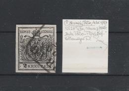 Mi. Nr. 2 X III A Mit Minibefund, Schön Gestempeltes Prachtstück - 1850-1918 Imperium