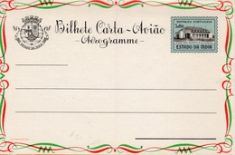 "Portuguese, Estado Da India Province 1959 ""Goa Radio Telegraph Office"" Aerogramme, Air Letter. H&G F9 MINT III - Portuguese India"