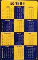 Telefonkarte Tschechien - Werbung - Kalender 1996 - 45/09.95 - Tschechische Rep.