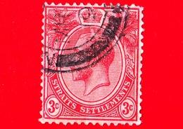 MALESIA - Straits Settlements  - Usato - 1917 - Re Giorgio V - 3 - Straits Settlements
