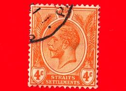 MALESIA - Straits Settlements  - Usato - 1929 - Re Giorgio V - 4 - Straits Settlements