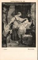 SCHILLER-GALERIE  A. MULLER  MUTTERLIEBE - Peintures & Tableaux