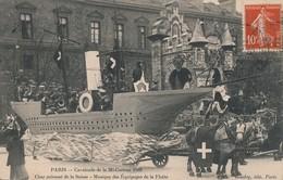I58 - 75 - PARIS - Cavalcade De La Mi-Carême 1909 - Char Cuirassé De La Suisse - Musique Des Équipages De La Flotte - Arrondissement: 19