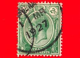 MALESIA - Straits Settlements  - Usato - 1921 - Re Giorgio V - 2 - Straits Settlements