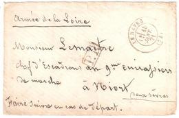 LE HAVRE Seine Inférieure Lettre En Port Payé PP Ob 15 01 1871 Armée De La Loire 9° Cuirassiers De Marches Dest Niort - Marcophilie (Lettres)