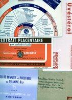 Lot De 5 Buvards Thème Pharmaceutique. - Produits Pharmaceutiques