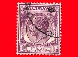 MALESIA - Straits Settlements  - Usato - 1936 - King George V (1936-37) - 10 - Straits Settlements