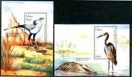 LIBERIA 2001** - Uccelli / Birds - 2 Miniblock MNH, Come Da Scansione. - Uccelli