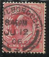 GREAT BRITAIN GRAN BRETAGNA 1902 1911 KING EDWARD VII ONE PENNY 1p USATO USED OBLITERE' - 1902-1951 (Re)