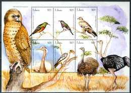 LIBERIA 2001** - Uccelli / Birds - Block Di 6 Val. MNH, Come Da Scansione. - Uccelli
