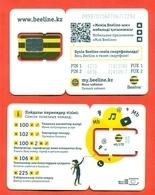 Kazakhstan. Plastic Card With A Sim-card.Phonecards Beeline. New Card. - Kazajstán