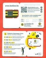 Kazakhstan. Plastic Card With A Sim-card.Phonecards Beeline. New Card. - Kasachstan