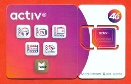 Kazakhstan. Plastic Card With A Sim-card.Phonecards Activ. New Card. - Kazakhstan