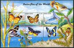 SIERRA LEONE 2001** - Farfalle / Butterflies - Block Di 6 Val. MNH, Come Da Scansione. - Farfalle