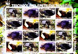 Sénégal 978 / 81 ( Feuille Complète ) Protection De La Faune / Tortue Trionyx / WWF - W.W.F.