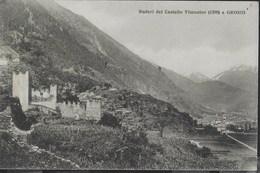 GROSIO - CASTELLO VISCONTEO - RUDERI - FORMATO PICCOLO - NUOVA - ANNULLO TONDO RIQUADRATO PRIVATO - Castelli
