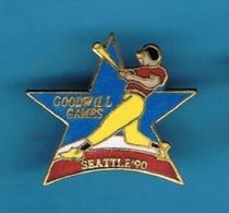 1 PIN'S  //   ** BASEBALL / GOODWILL GAMES / SEATTLE '90 ** . (© & ™ SOC) - Baseball