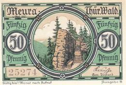 Billet Allemand - 50 Pfennig - Meura Im Thüringer Wald 1921 - Lokale Ausgaben