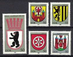 DDR 1983, Wappen Coat Of Arms Wapenschild Blason Escudo **, MNH - Heraldik, Wappen