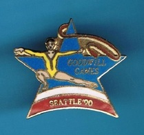 1 PIN'S  //   ** GYMNASTIQUE RYTHMIQUE / GOODWILL GAMES / SEATTLE '90 ** . (© & ™ SOC) - Gymnastique