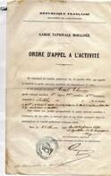 Alpes Maritimes - Garde Nationale Mobilisée En 1871 - Documents Historiques