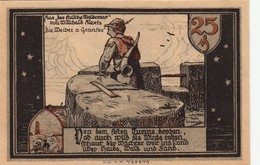 Billet Allemand - 25 Pfennig - Gransee In Der Mark - Stadtturm Et Stadttor, Burgwache Avec Horn - Lokale Ausgaben