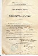 Alpes Maritimes - Garde Nationale Mobilisée En 1871 - Documentos Históricos