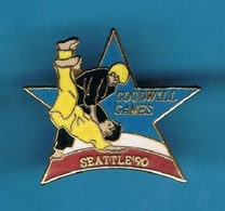 1 PIN'S  //   ** JUDO / GOODWILL GAMES / SEATTLE '90 ** . (© & ™ SOC) - Judo