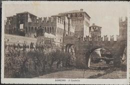 SONCINO - IL CASTELLO - FOTOEDIZ. PANDINI BRESCIA - FORMATO PICCOLO - SCRITTA AL RETRO - Castelli