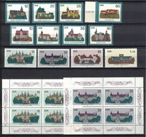 DDR 1984 + 1986, Burg Schloss Kasteel Burcht Castle Château Castillo **, MNH - Schlösser U. Burgen