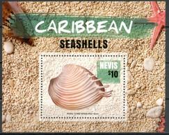 NEVIS 2016** - Conchiglie / Seashells - Miniblock. MNH, Come Da Scansione. - Conchiglie